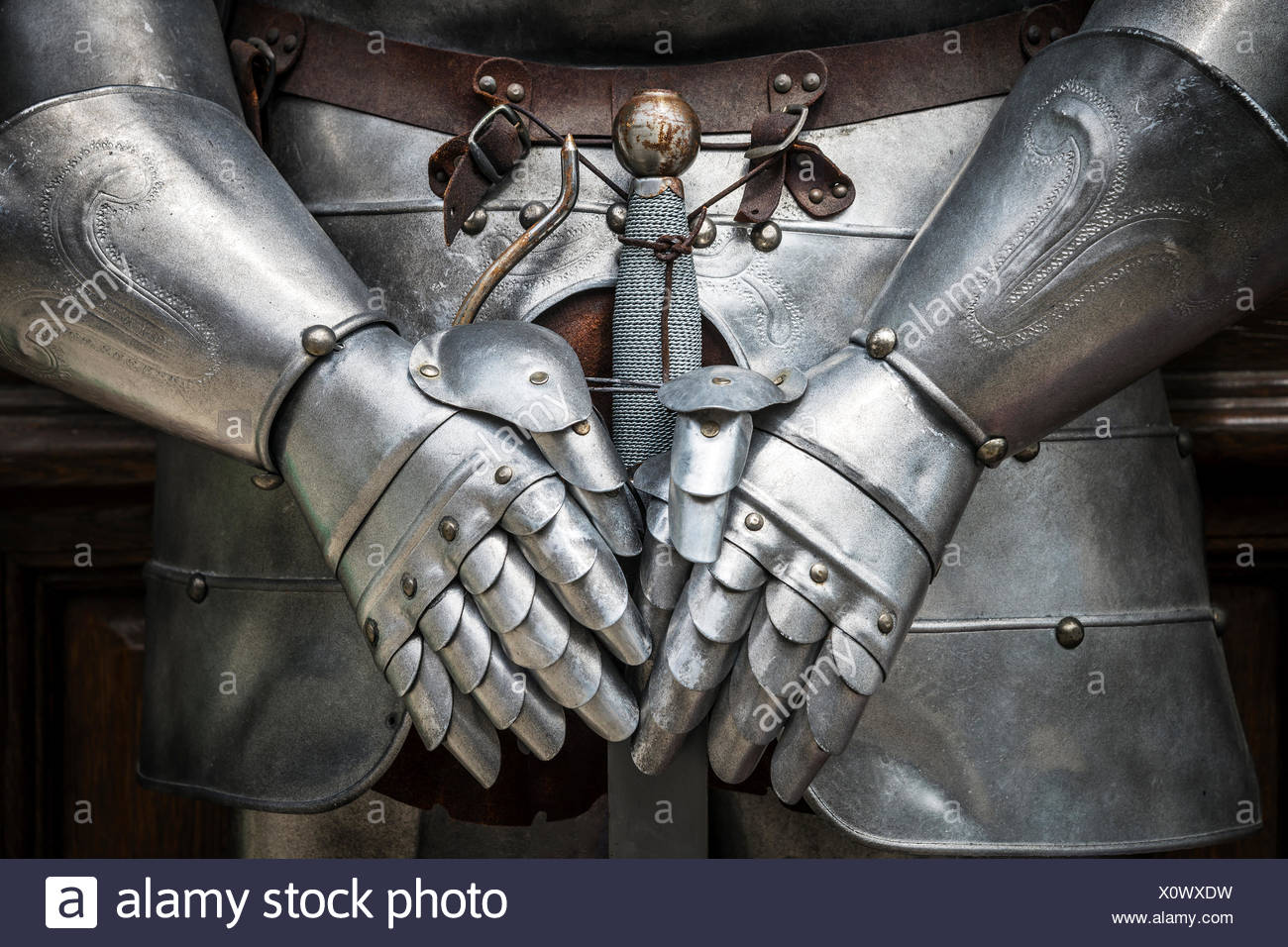 Dettaglio knight armor Immagini Stock