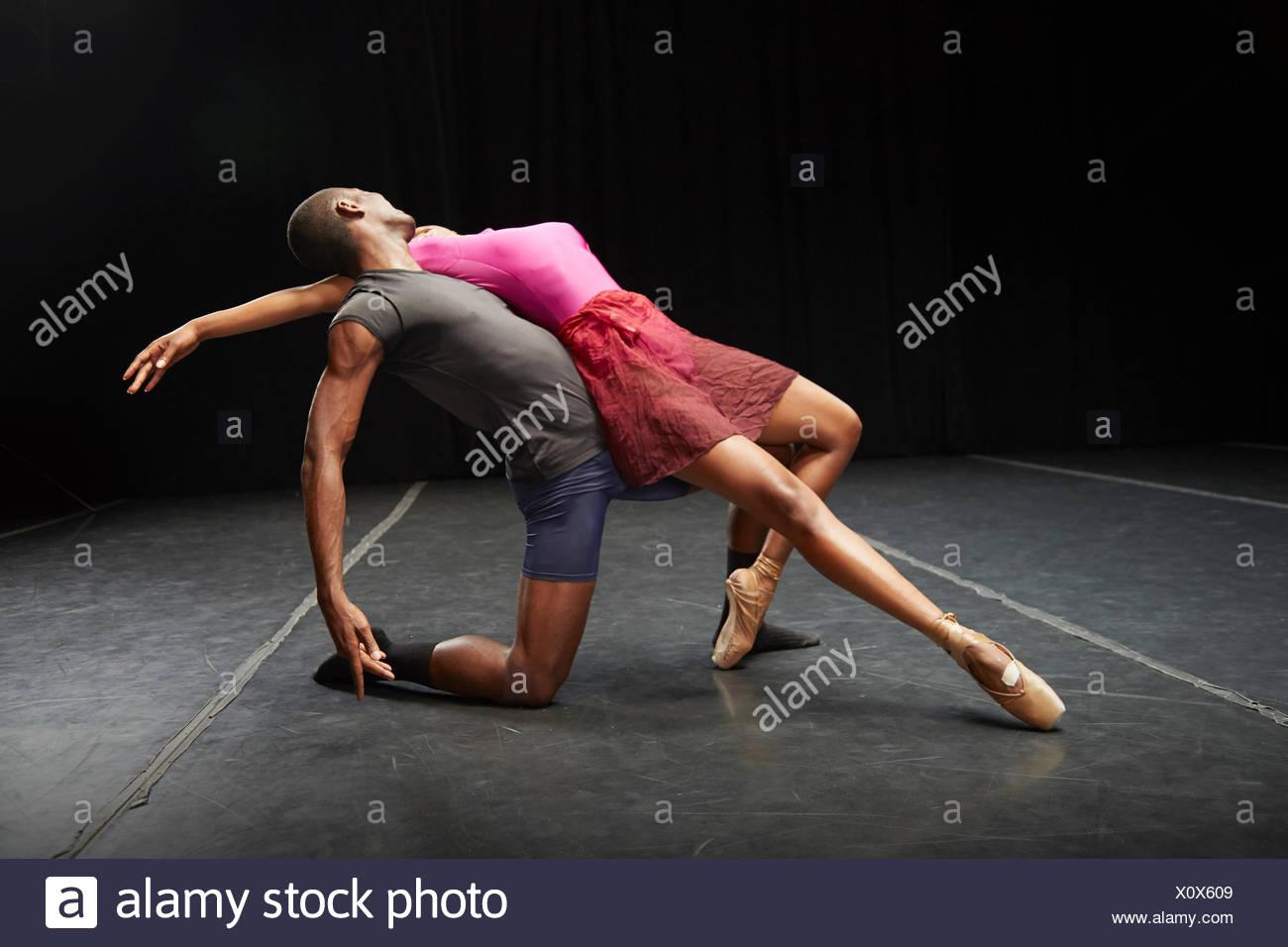 Ballerini in pratica Immagini Stock
