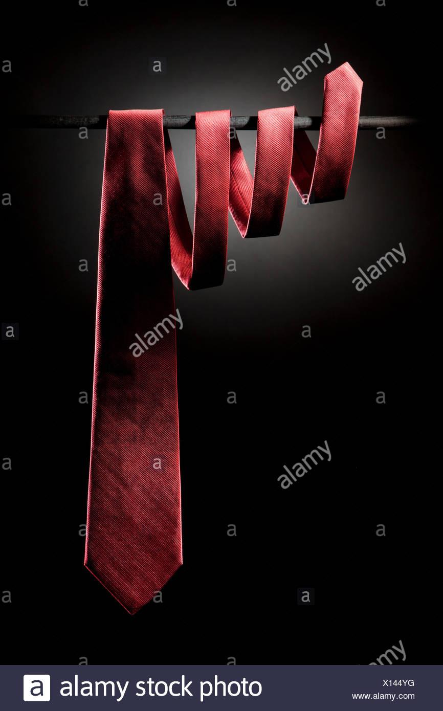 Cravatta rossa Foto Stock