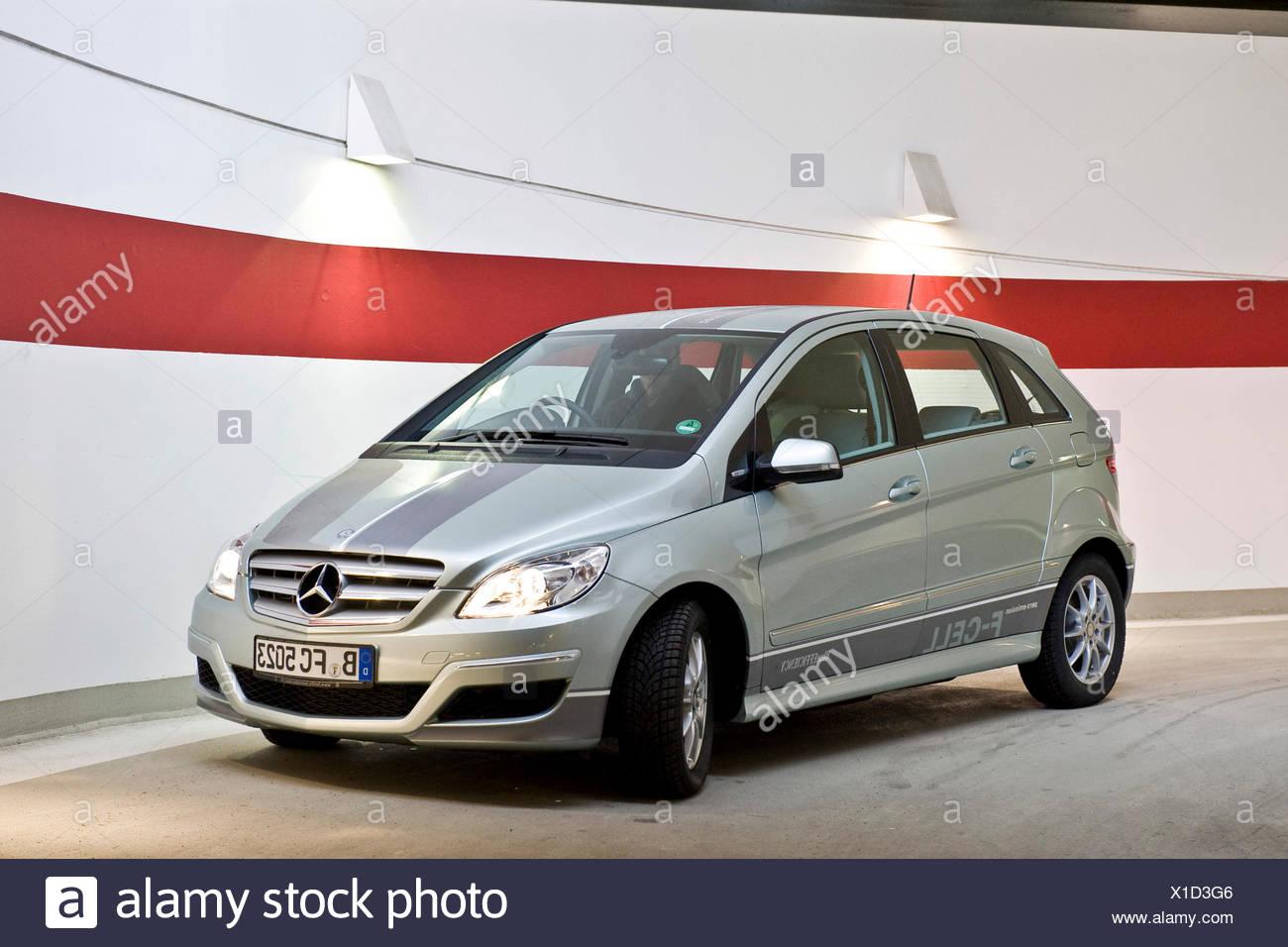 Cella a combustibile idrogeno veicolo, Mercedes classe B a zero emissioni, Berlino Immagini Stock