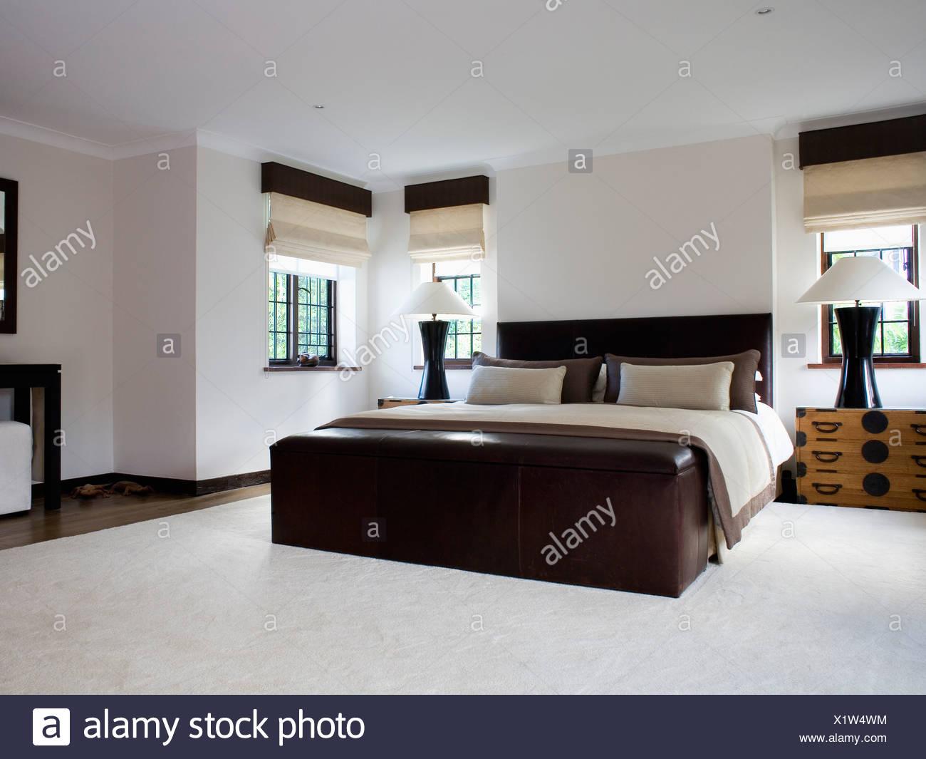 Camera Da Letto Moderna Marrone : Archiviazione di grandi dimensioni torace sotto il letto con color