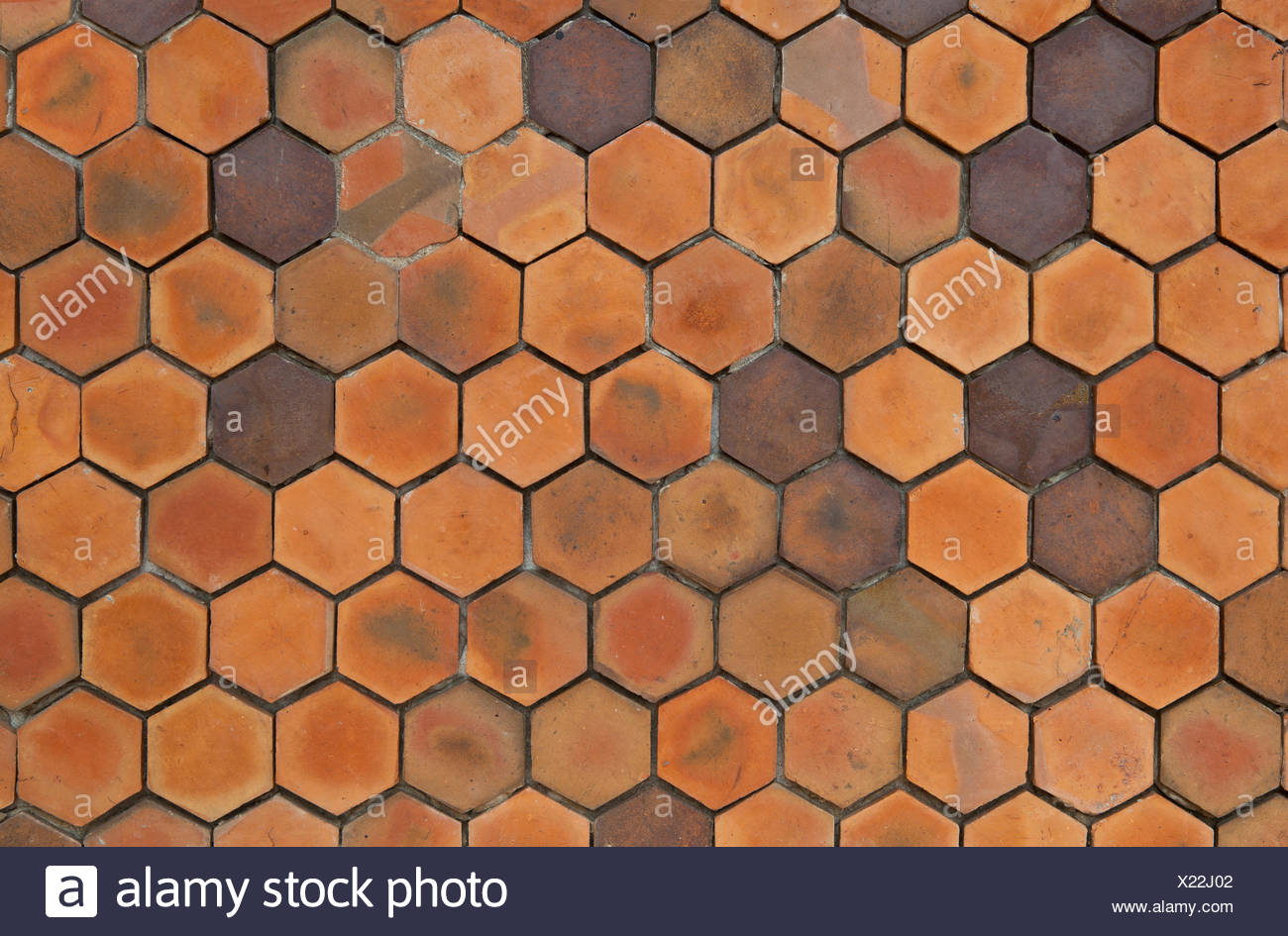 Giallo argilla esagonale parete piastrelle sfondo nido tile parete