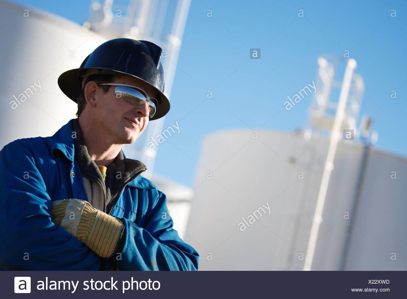 Un collare blu lavoratore Immagini Stock