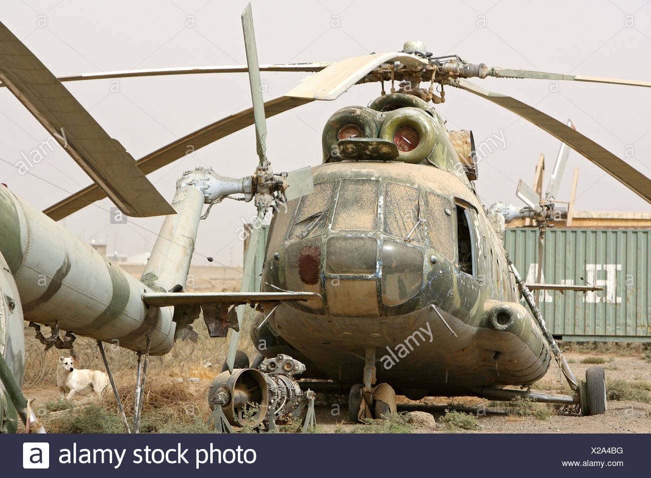 Un difetto di russo elicottero militare, Kunduz, Afghanistan Immagini Stock