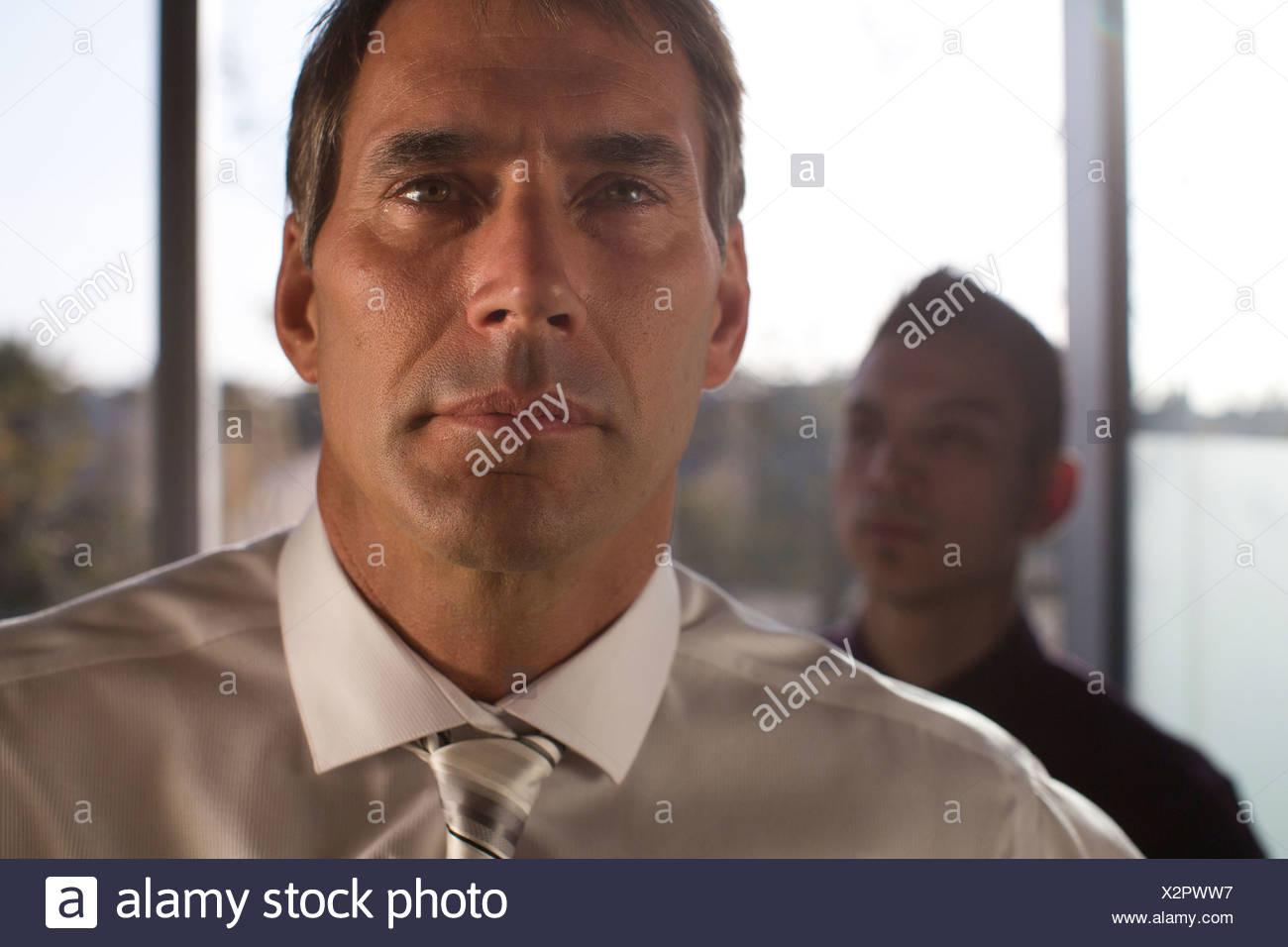 Ritratto di un uomo di affari. Immagini Stock