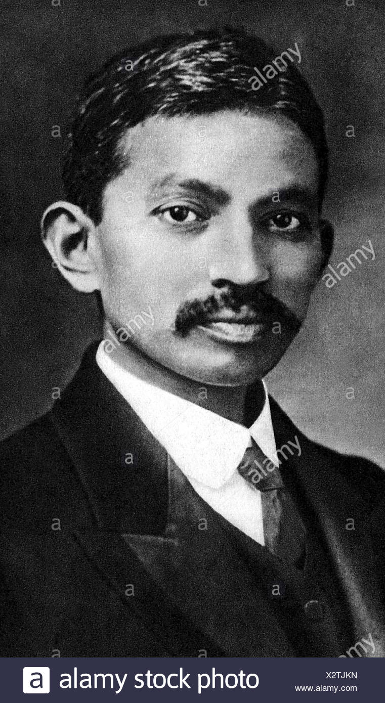, Gandhi Mohandas Karamchand chiamato mahatma, 2.10.1869 - 30.1.1948, uomo politico indiano, ritratto, come giovane uomo, , Additional-Rights-giochi-NA Immagini Stock