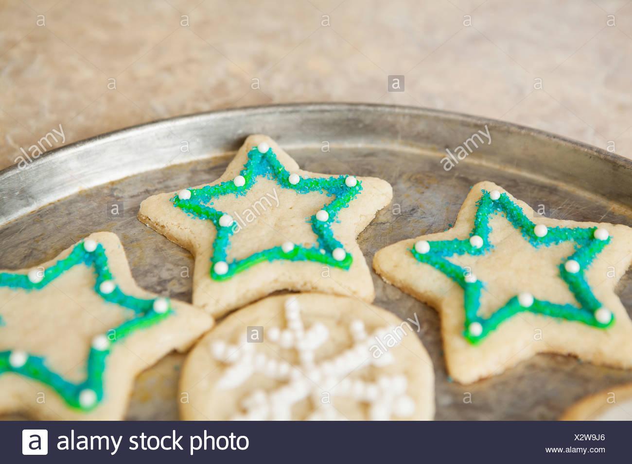 Biscotti Di Natale Usa.Stati Uniti California Lawndale Biscotti Di Natale Sul Vassoio
