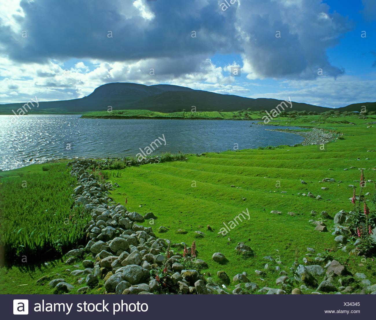 Penisola di Corraun, suono Achill, nella contea di Mayo, Repubblica di Irlanda, Europa Immagini Stock