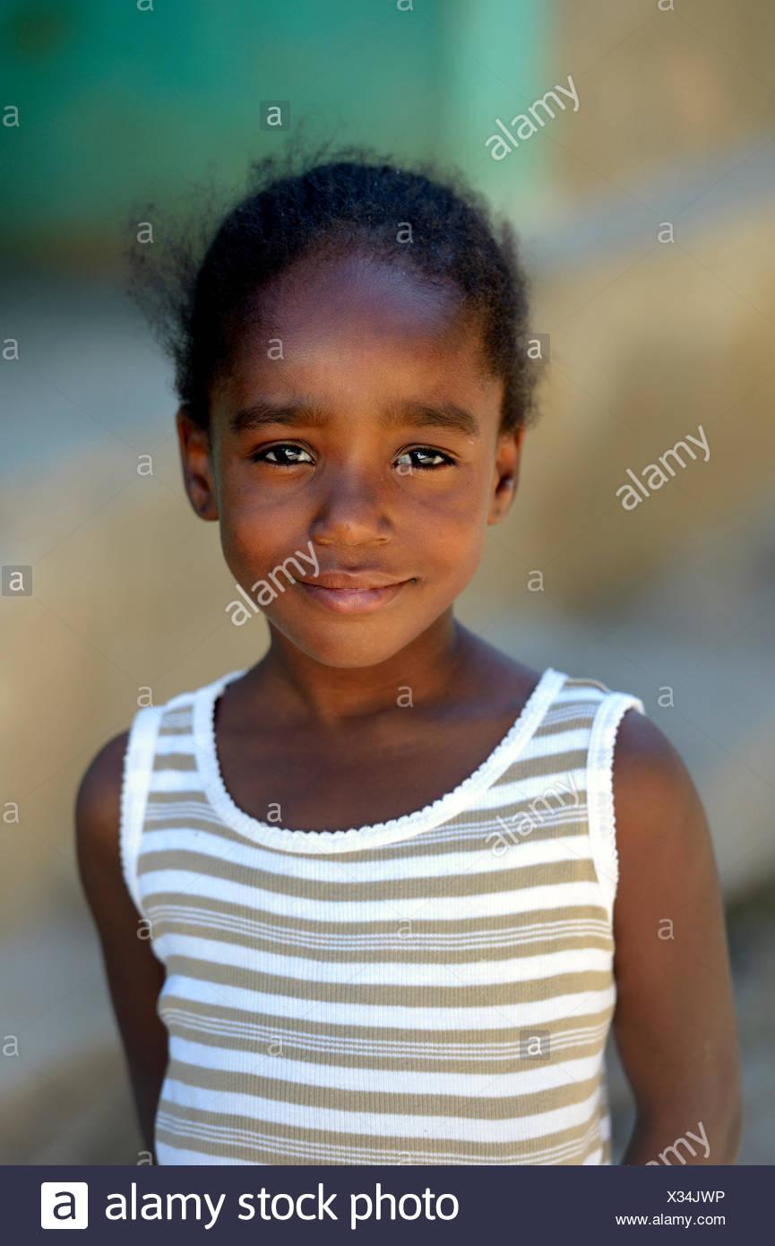 Ragazza, La Vallee, Dipartimento Sud-Est, Haiti Immagini Stock