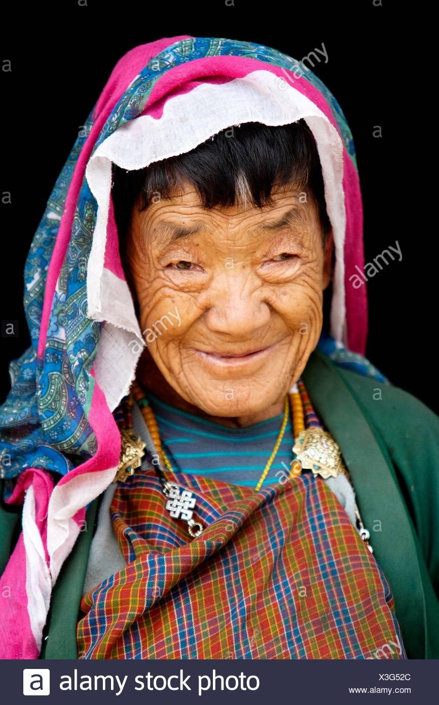 Cittadini bhutanesi portret Immagini Stock