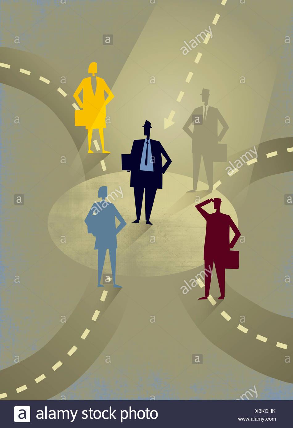 Girare In Tondo.Il Contrasto Di Imprenditore Di Successo Su Percorso