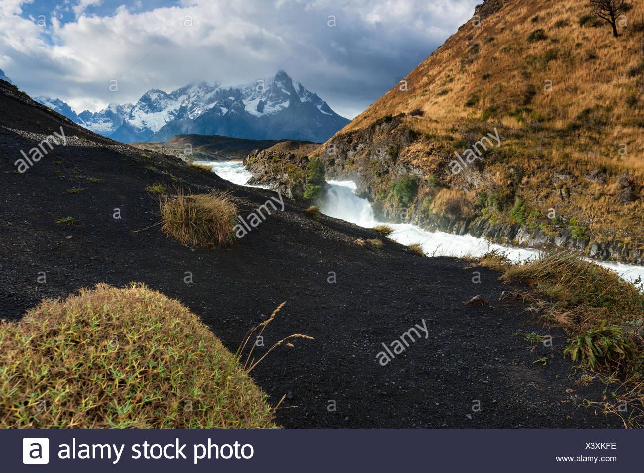 Salto Chico,Cile,Patagonia Immagini Stock