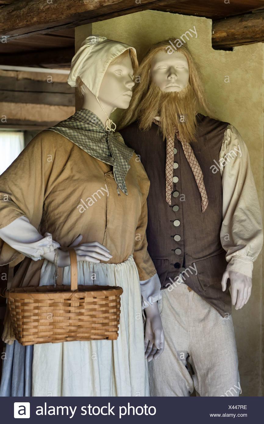 Abbigliamento tradizionale, Ephrata chiostro, Pennsylvania, STATI UNITI D'AMERICA Immagini Stock
