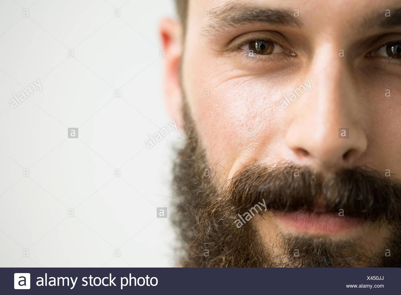 Close up ritratto di uomo con barba Immagini Stock