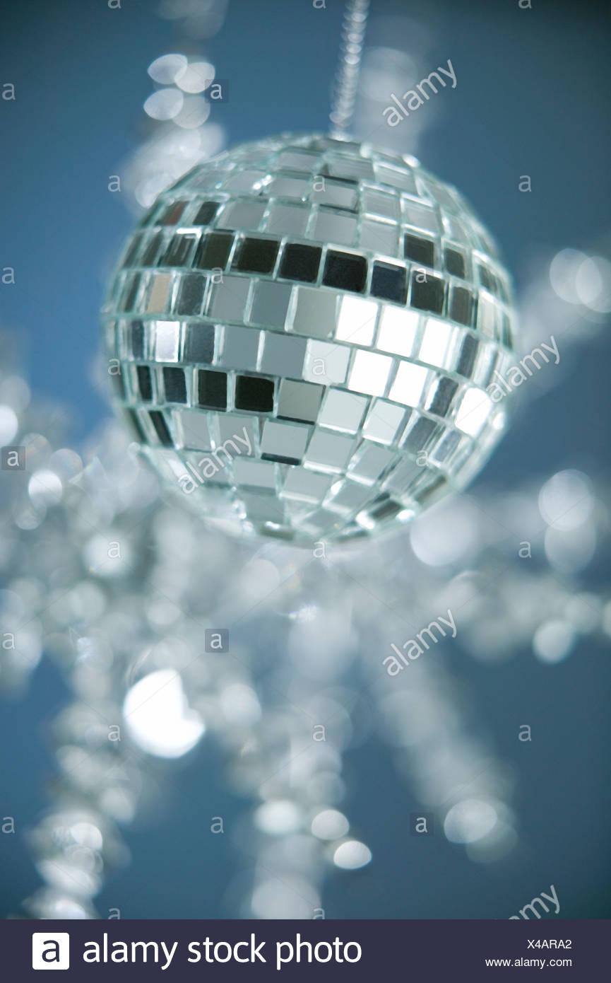 Palla da discoteca ornamento di Natale Immagini Stock