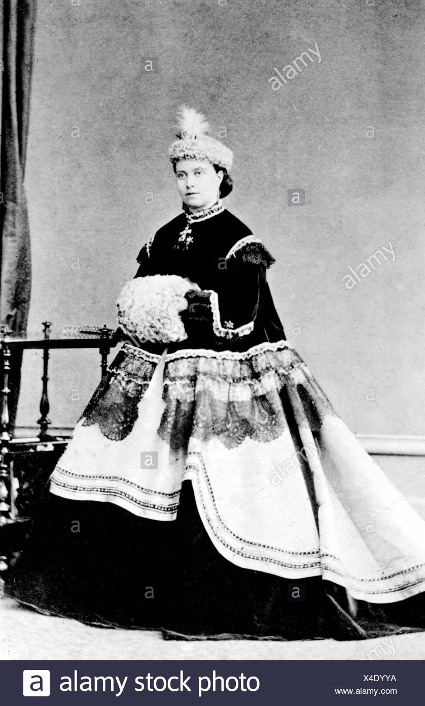 Victoria Adelaide, 21.11.1840 - 5.8. 1901, Empress tedesco 9.3.1888.- 15.6.1888, lunghezza intera, 1865, , Foto Stock