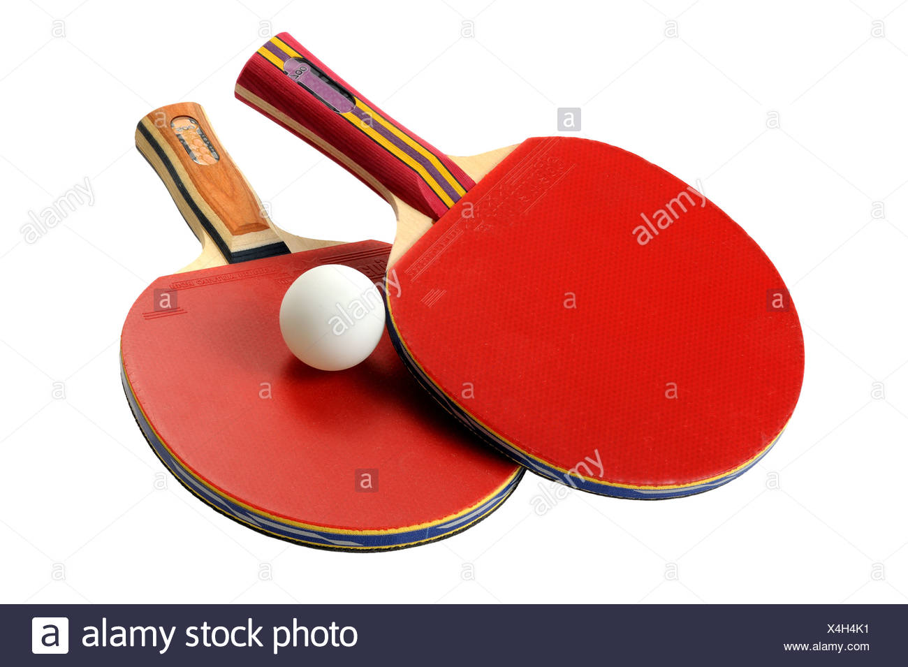 Tabella racchette da tennis Immagini Stock