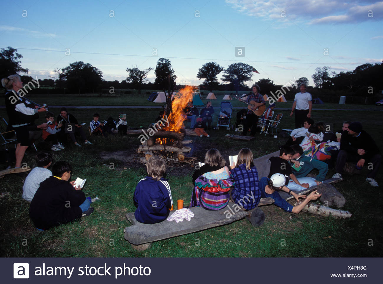 Harrow Woodcraft Folk camping REGNO UNITO Foto Stock