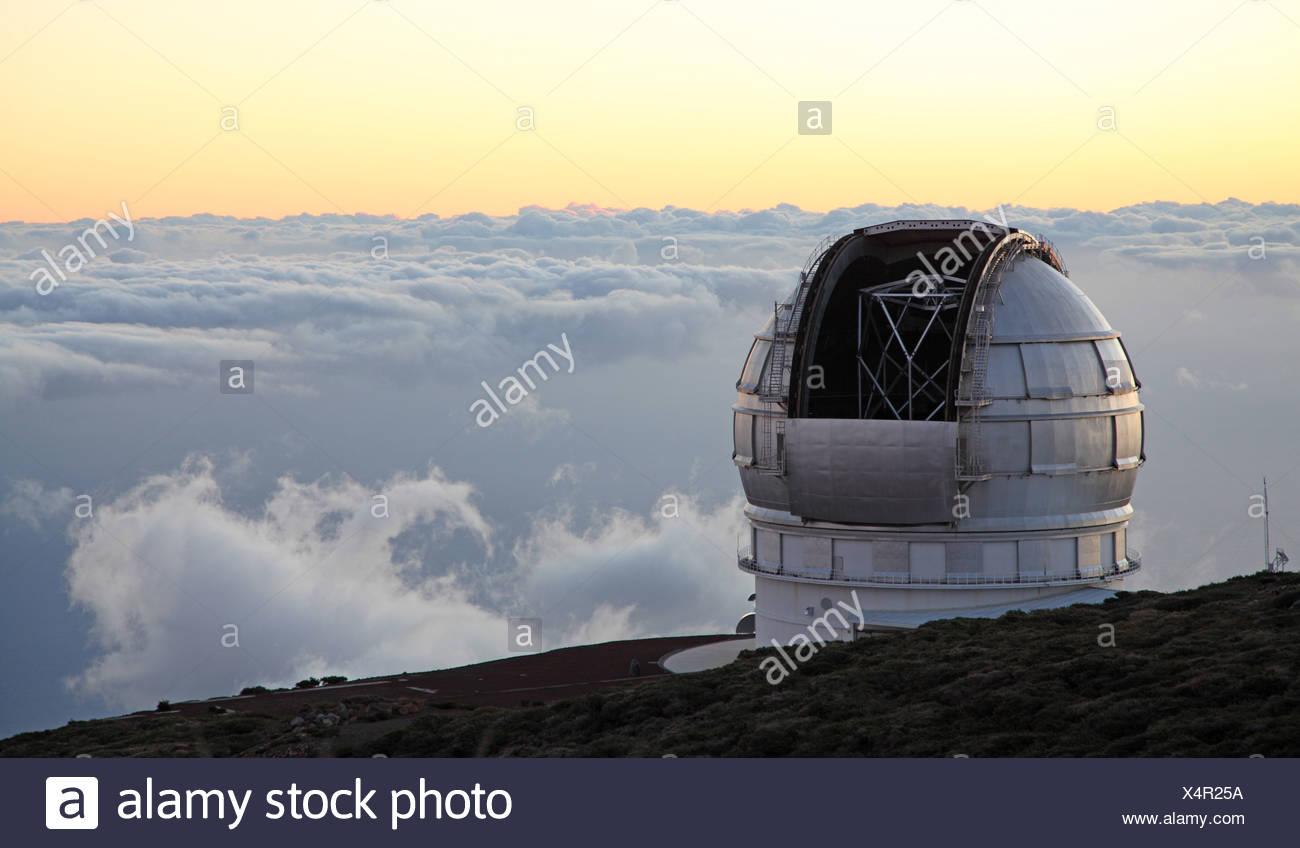Osservatorio Roque de los Muchachos, Isole Canarie La Palma Immagini Stock