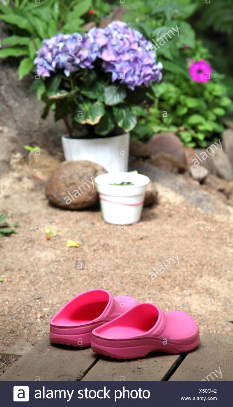 zoccoli di coppia rosa Immagini Stock