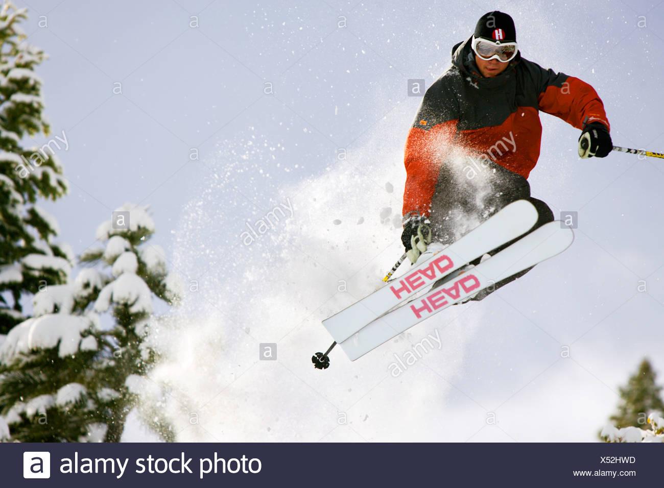 Sciare a Lake Tahoe. Immagini Stock