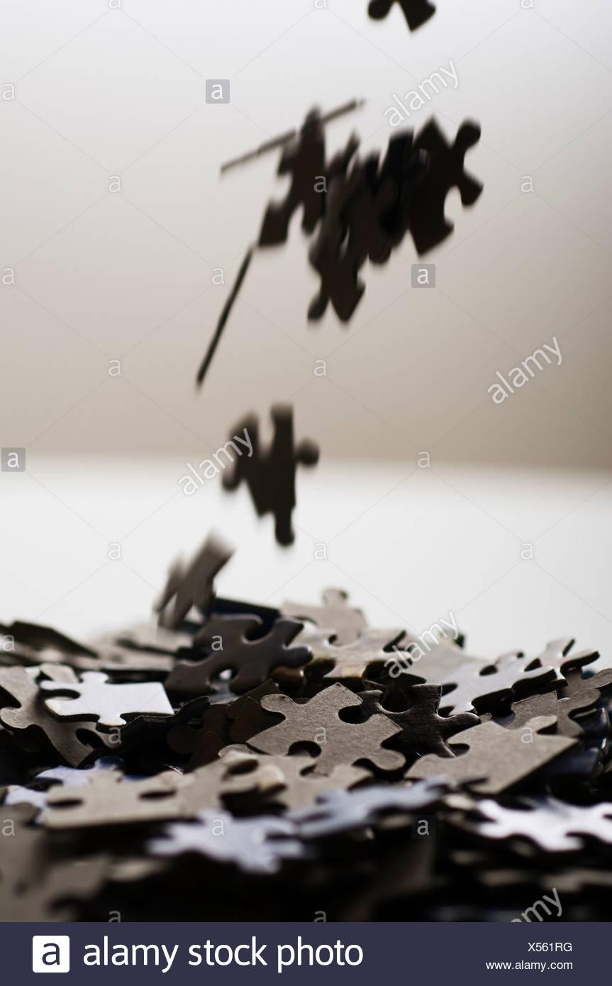 Pezzi di puzzle, close-up Immagini Stock