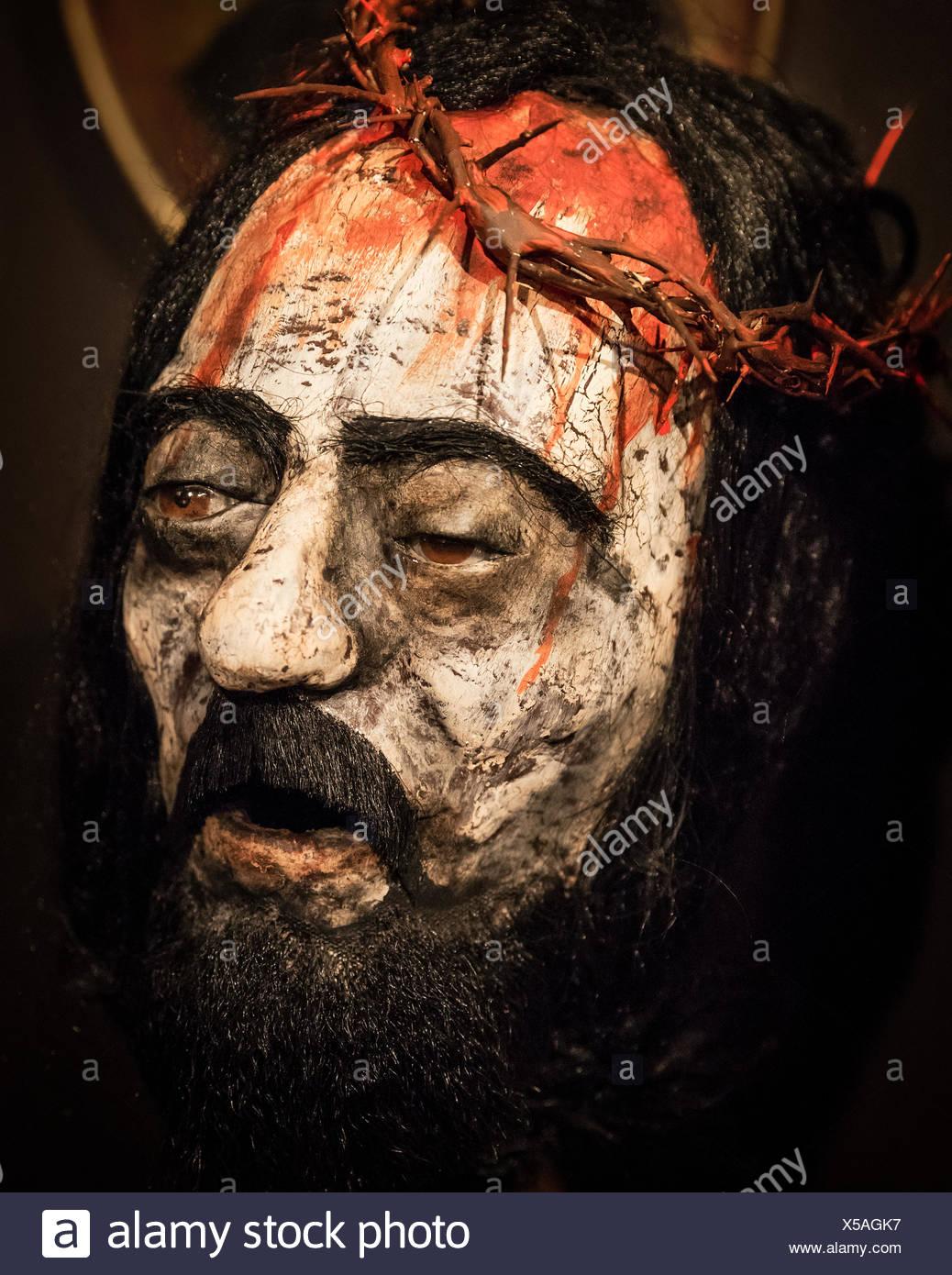 La Passione di Cristo la figura con la corona di spine. Foto Stock