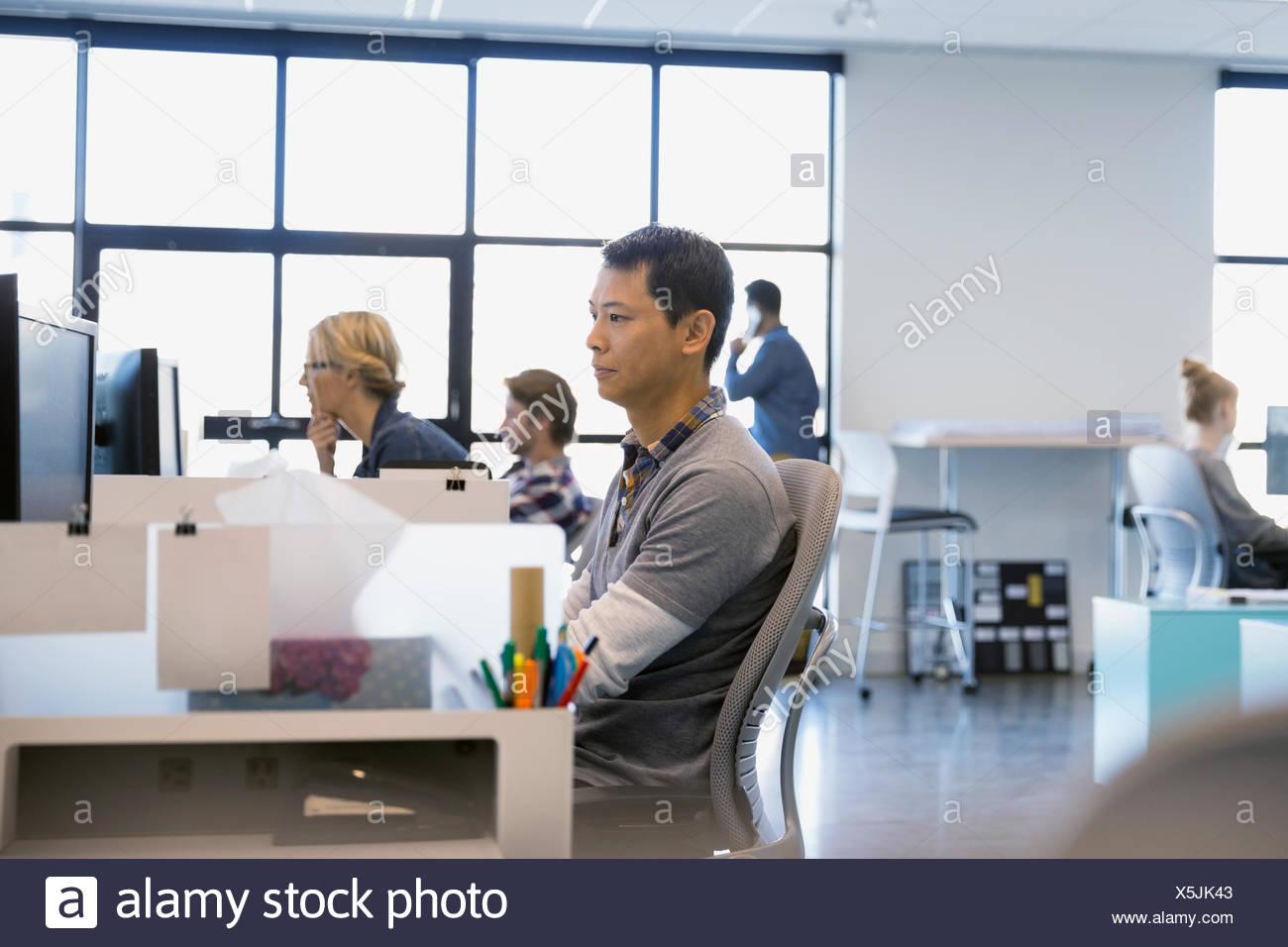 La gente di affari lavoro in ufficio Immagini Stock
