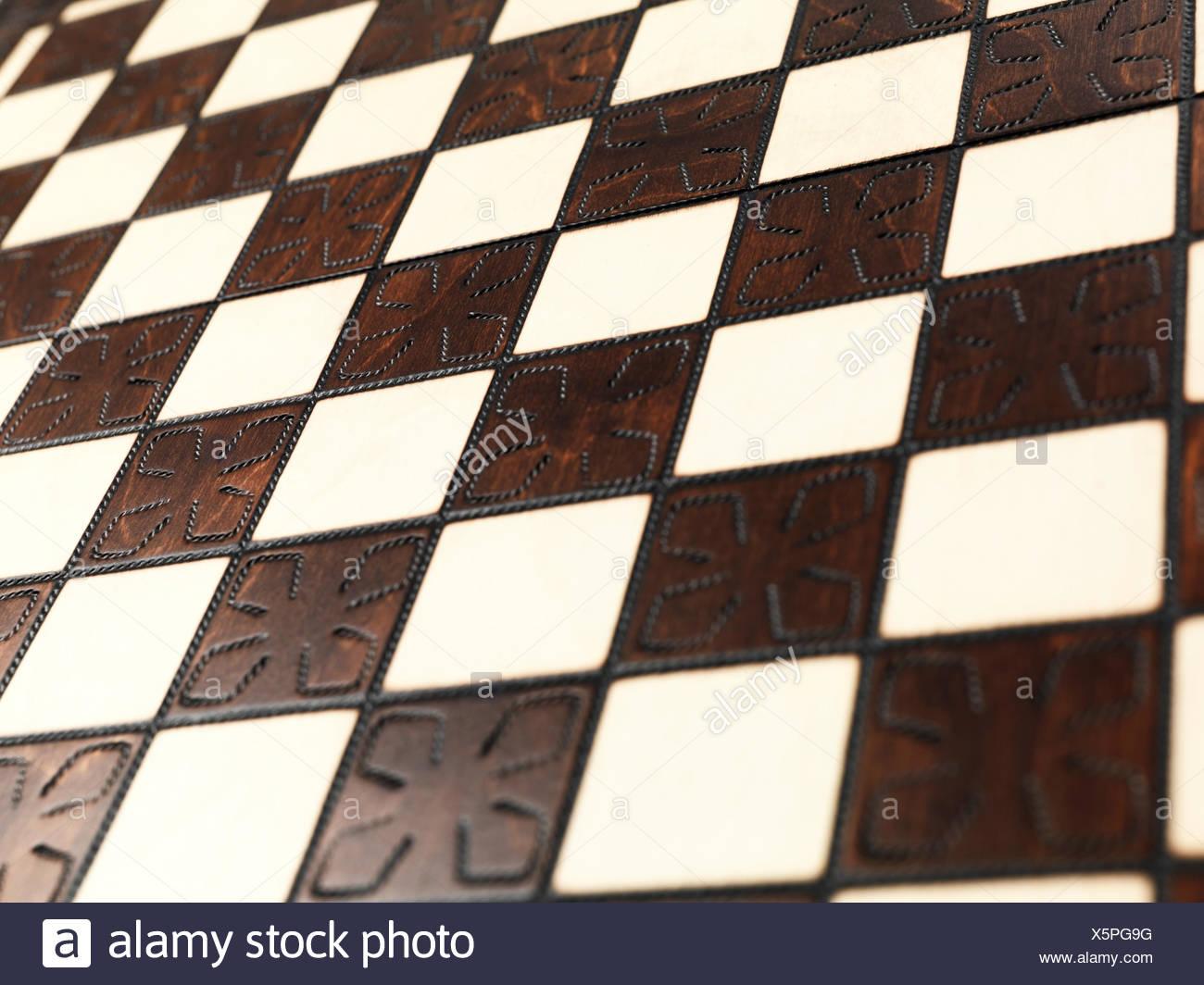Primo piano di una scacchiera Immagini Stock