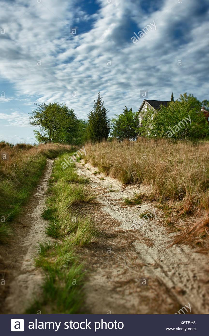 Rurale abbandonato farm house. Immagini Stock
