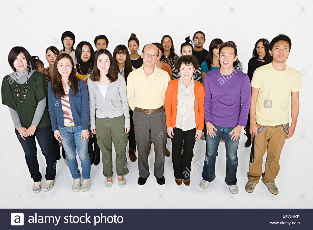 Un folto gruppo di persone Immagini Stock