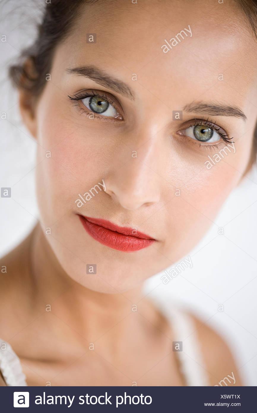 Ritratto di una donna bellissima Immagini Stock