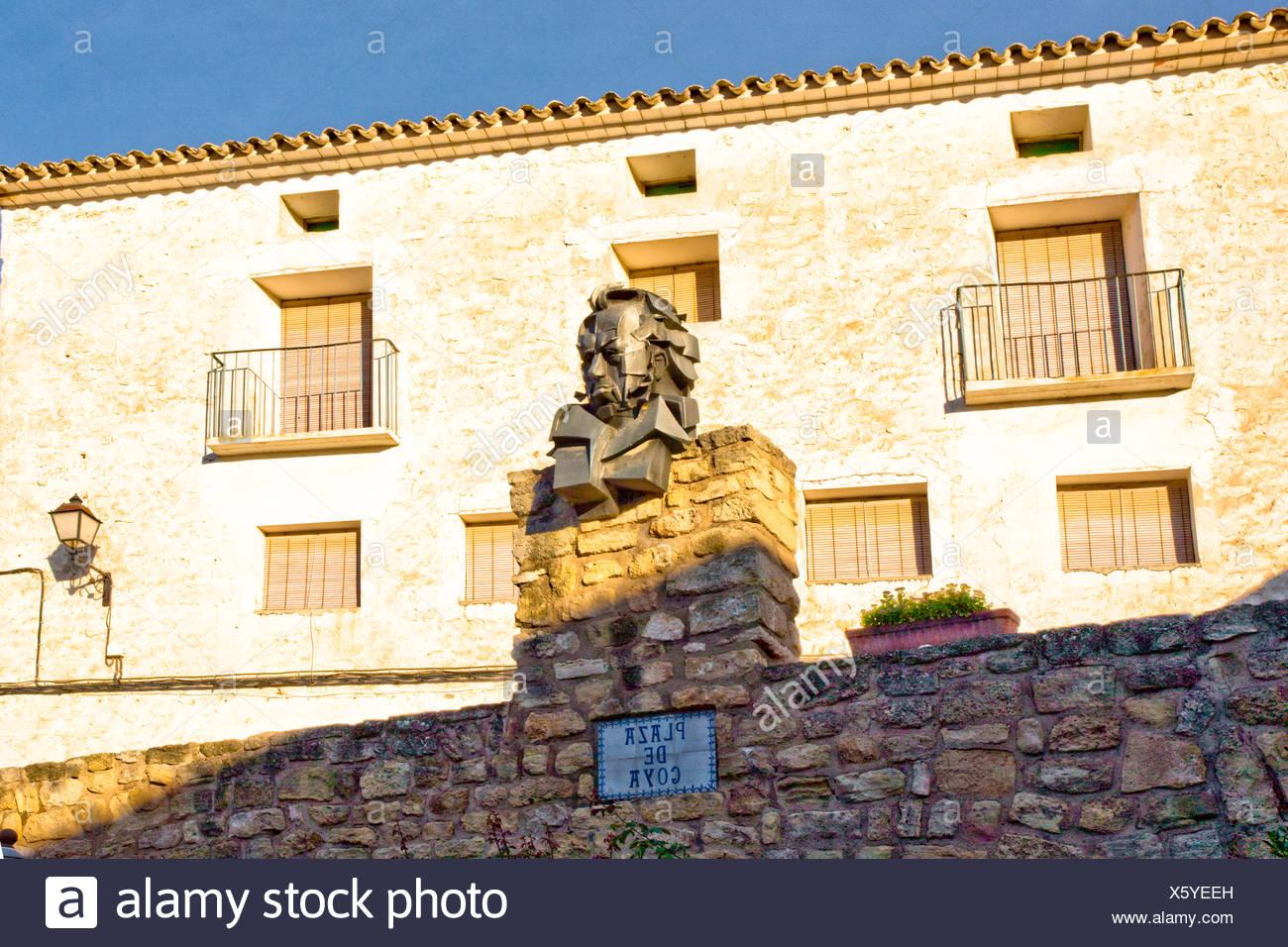 Spagna, Europa, Aragona, Fuendetodos, Goya, plastica Immagini Stock