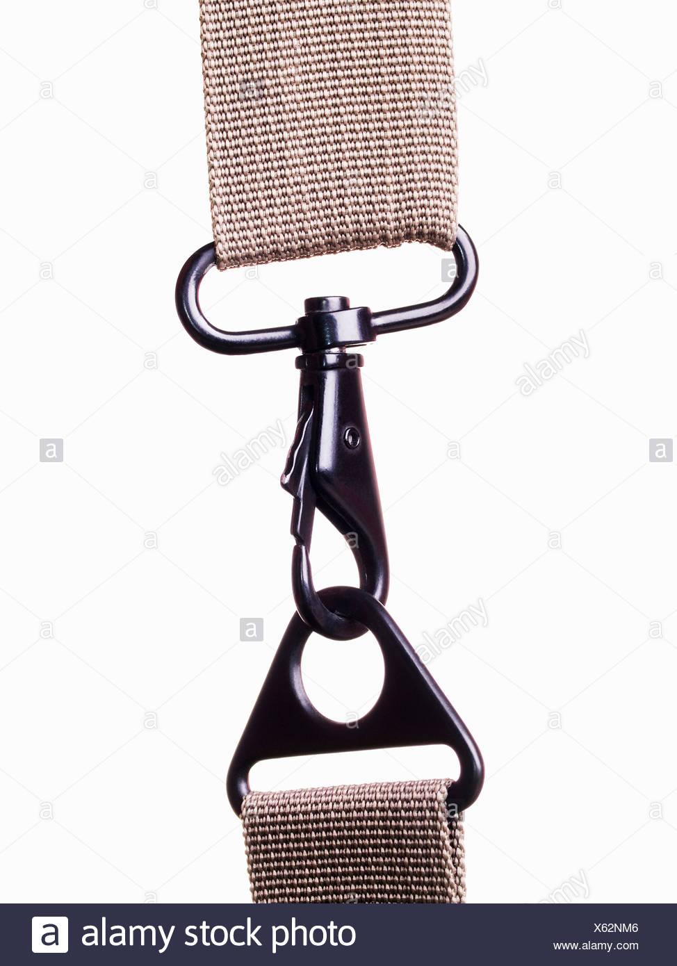 La clip metallica di fissaggio Immagini Stock