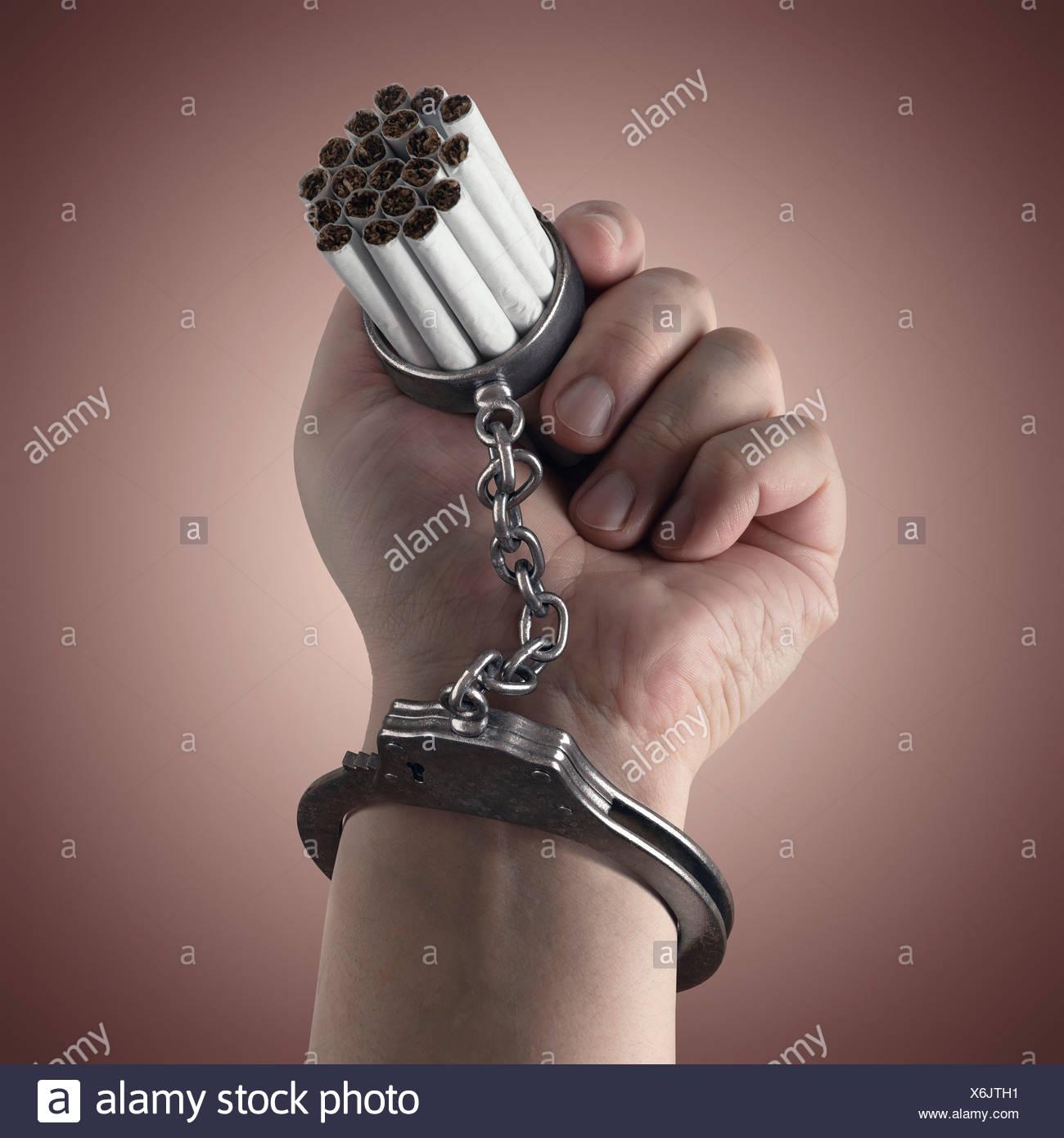 Il tabagismo, immagine concettuale Immagini Stock