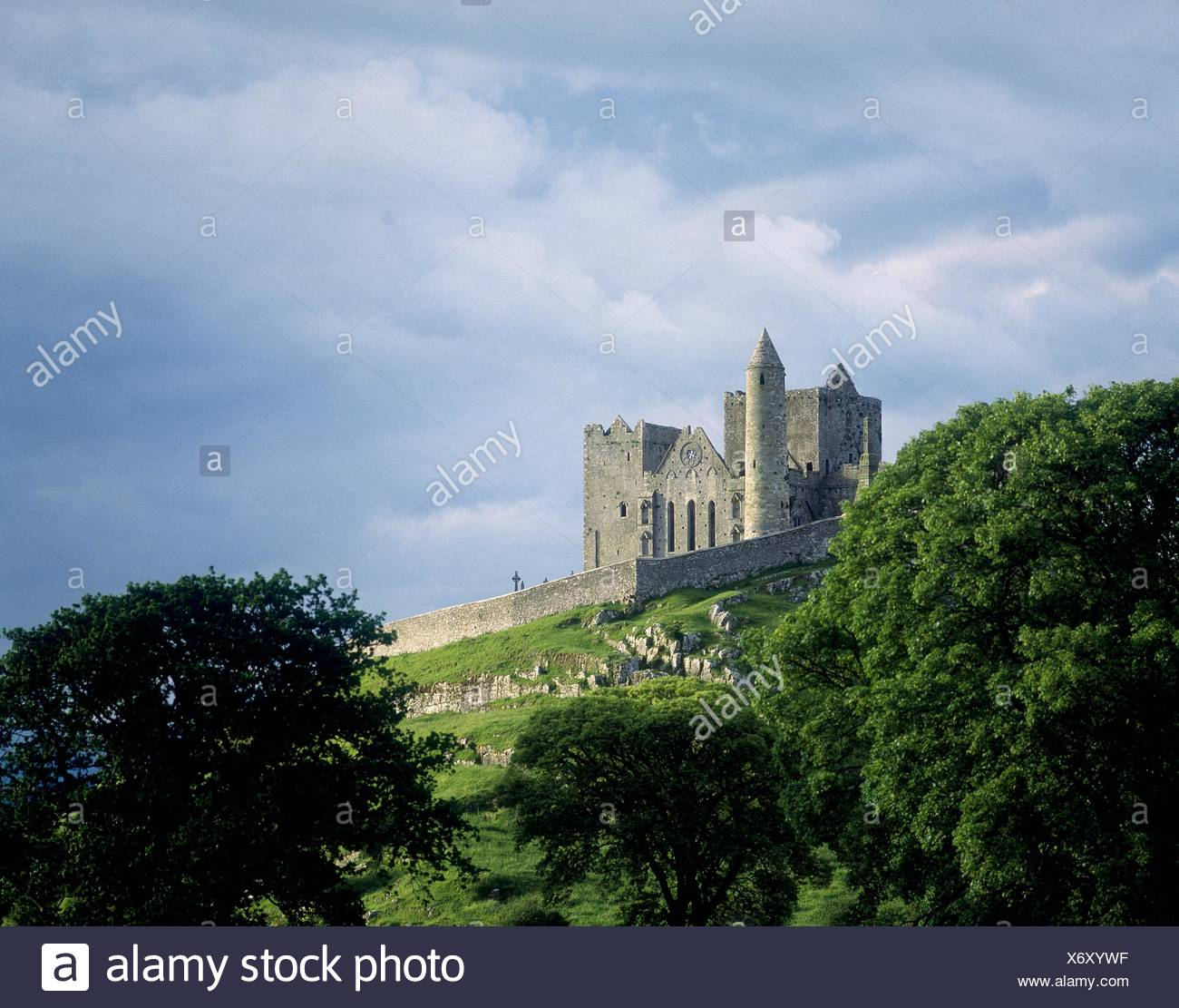 Cashel Rock insediamento monastico, Cahel, Co Tipperary, Irlanda Immagini Stock