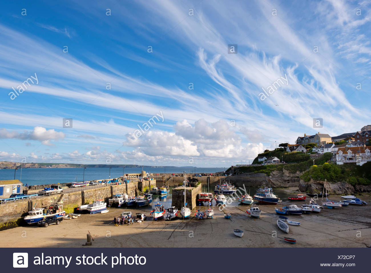 Hafen, Newquay, Cornwall, Inghilterra, Großbritannien Immagini Stock