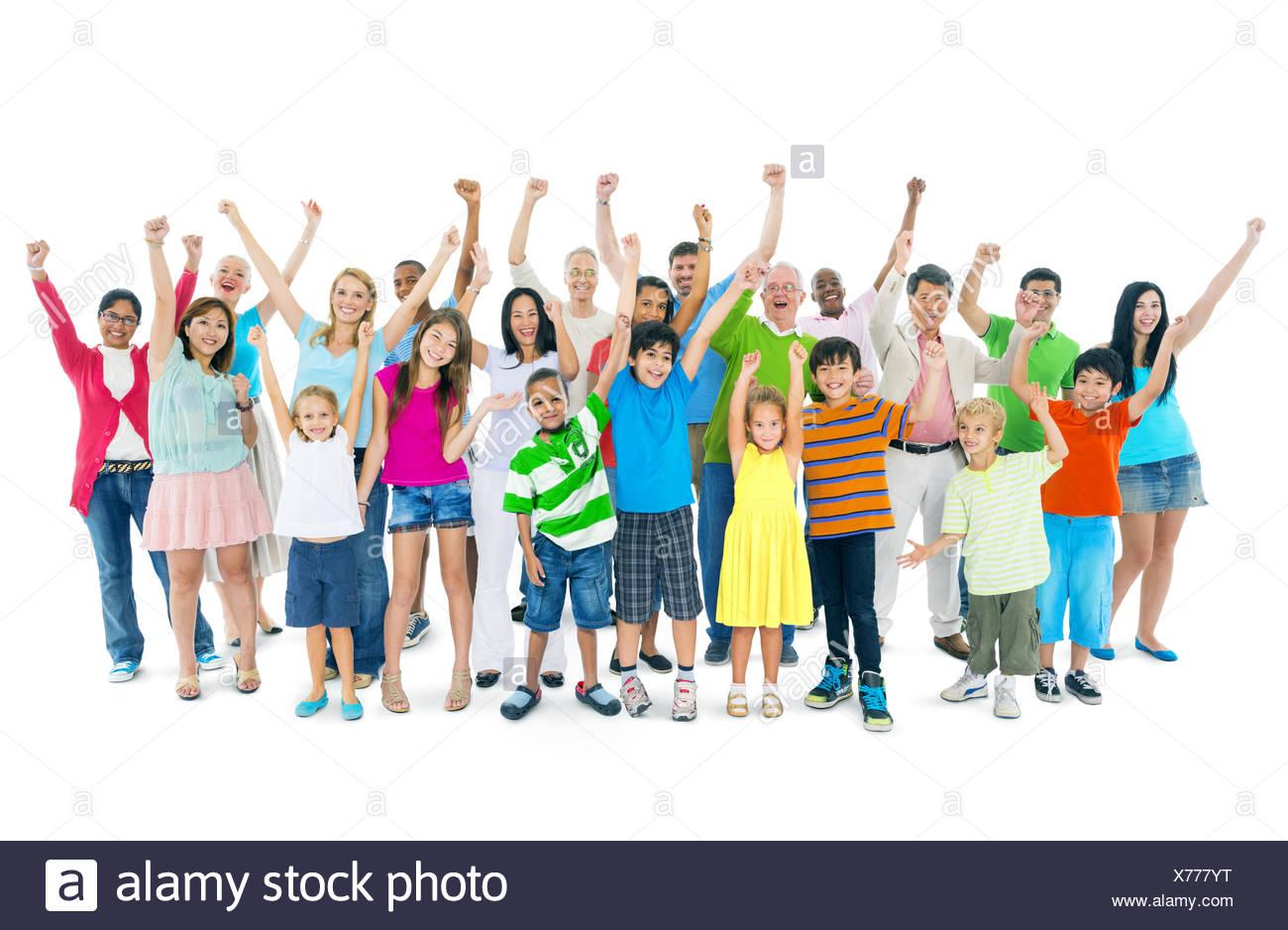 Il gruppo di età mista persone Foto Stock