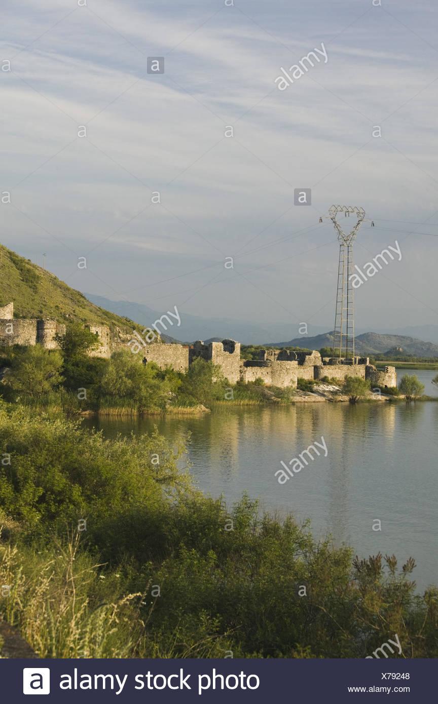 Montenegro, Skadar-See, Lesendro, Festungsruine, 16.Jh., Foto Stock