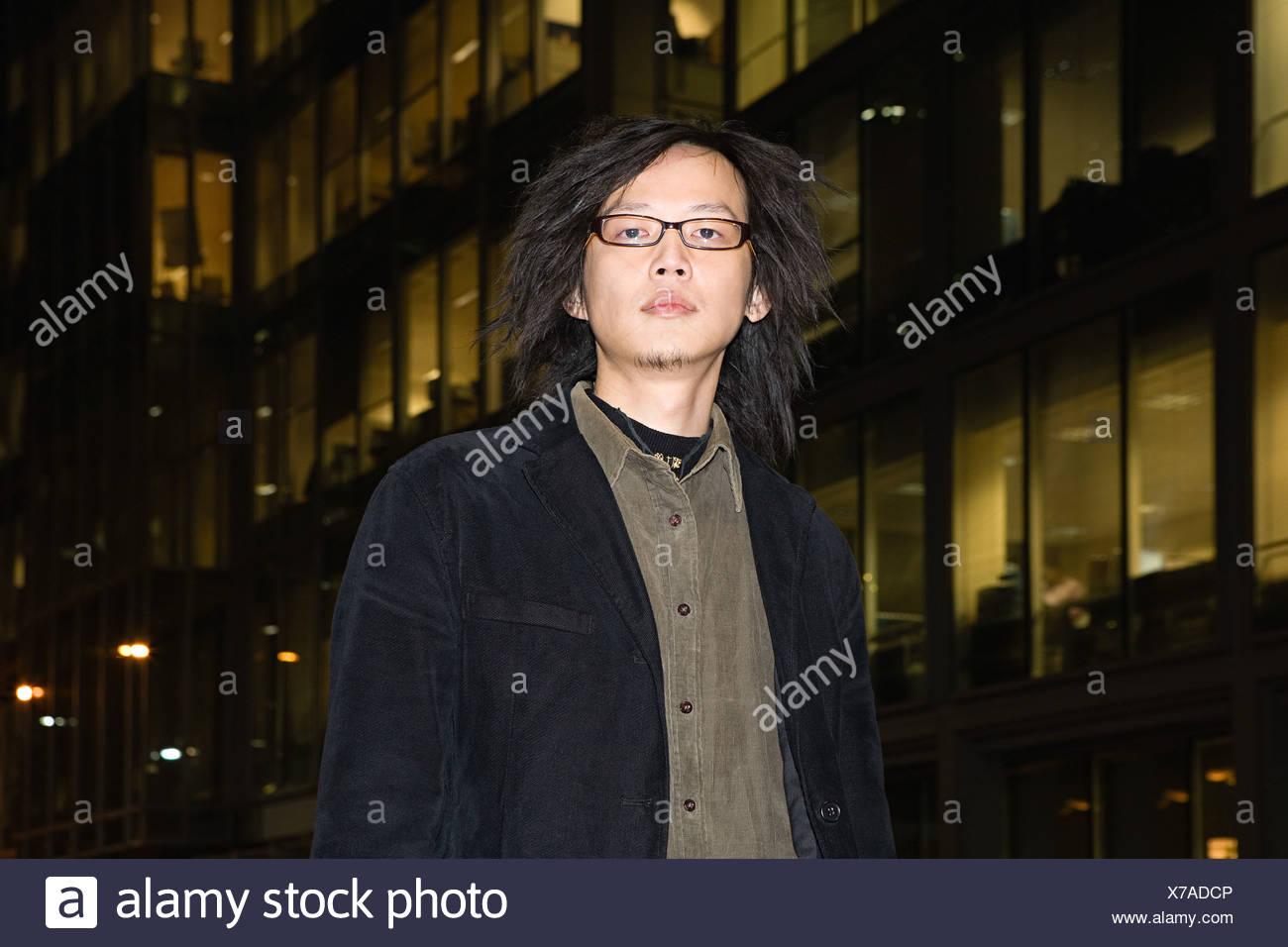 Ritratto di un giovane uomo Immagini Stock