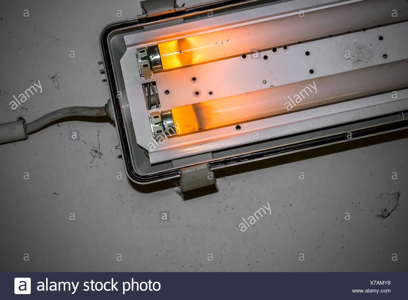 Rotture Di Lampada Al Neon Foto Immagine Stock 279904444 Alamy
