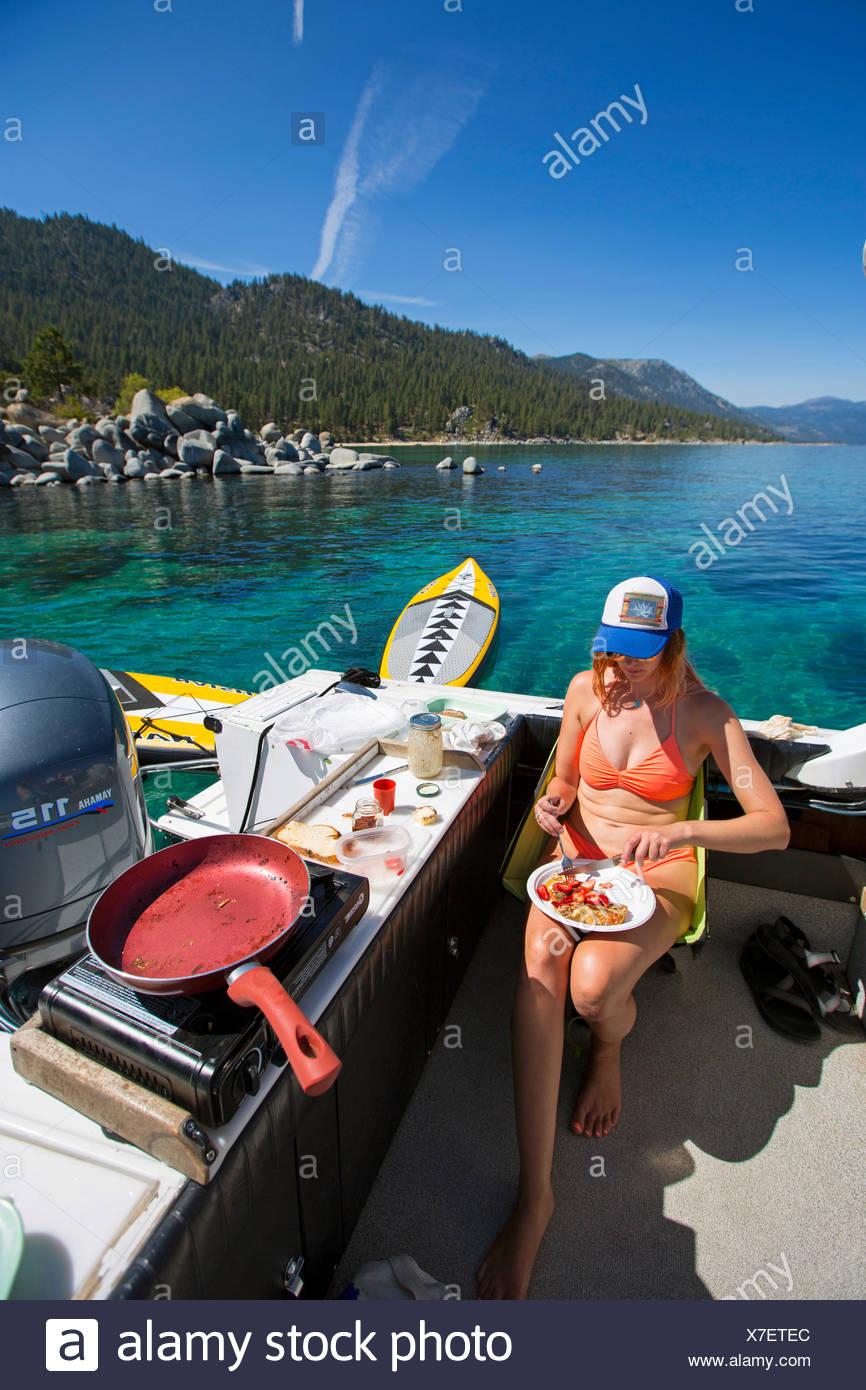 Vita quotidiana sul Lago Tahoe Immagini Stock
