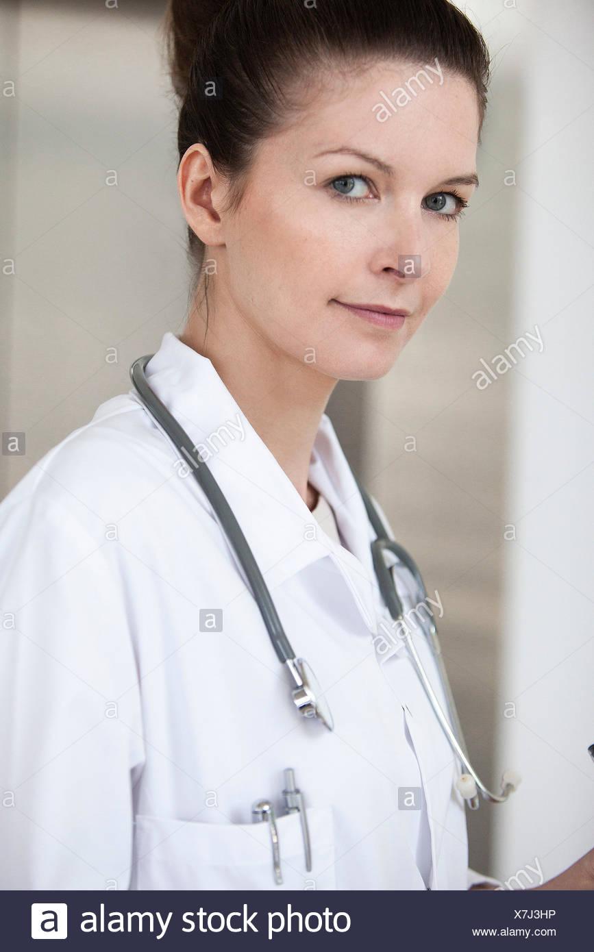 Medico, ritratto Immagini Stock