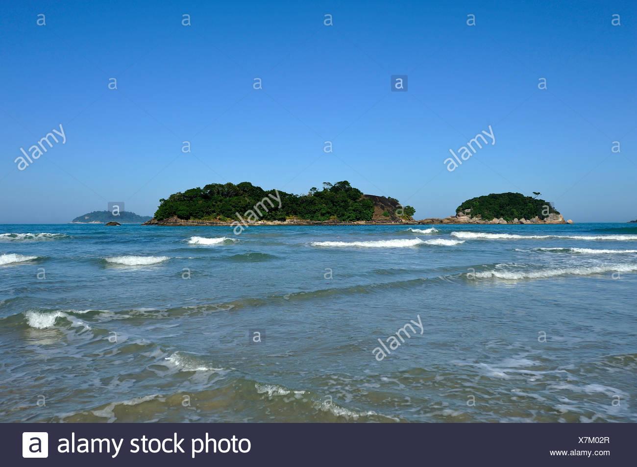 Outlying Islands, Dois Rios beach, Ilha Grande, stato di Rio de Janeiro, Brasile, Sud America Immagini Stock