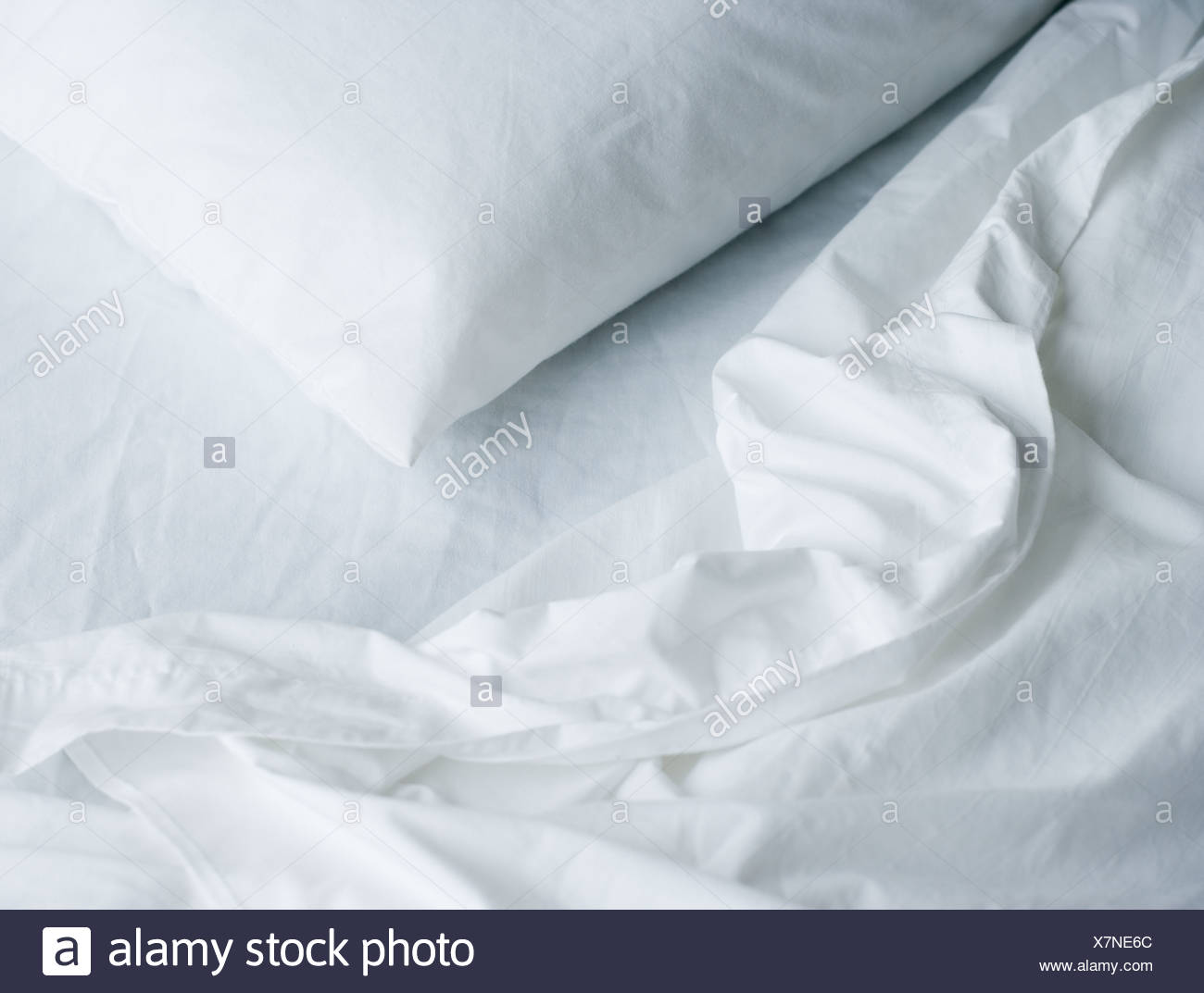 Ancora in vita del cuscino e lenzuola Immagini Stock