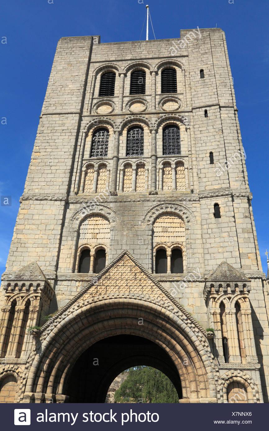Bury St Edmunds, il normanno Gate, vogatore, Suffolk, Inghilterra, Regno Unito Immagini Stock