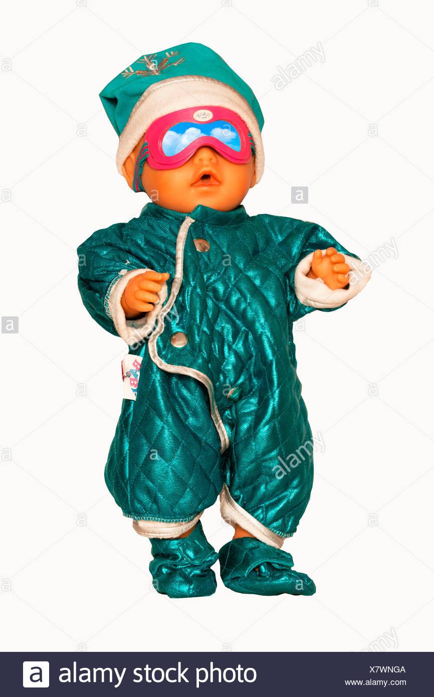 Bambino Nato Bambola Con Abbigliamento Sci