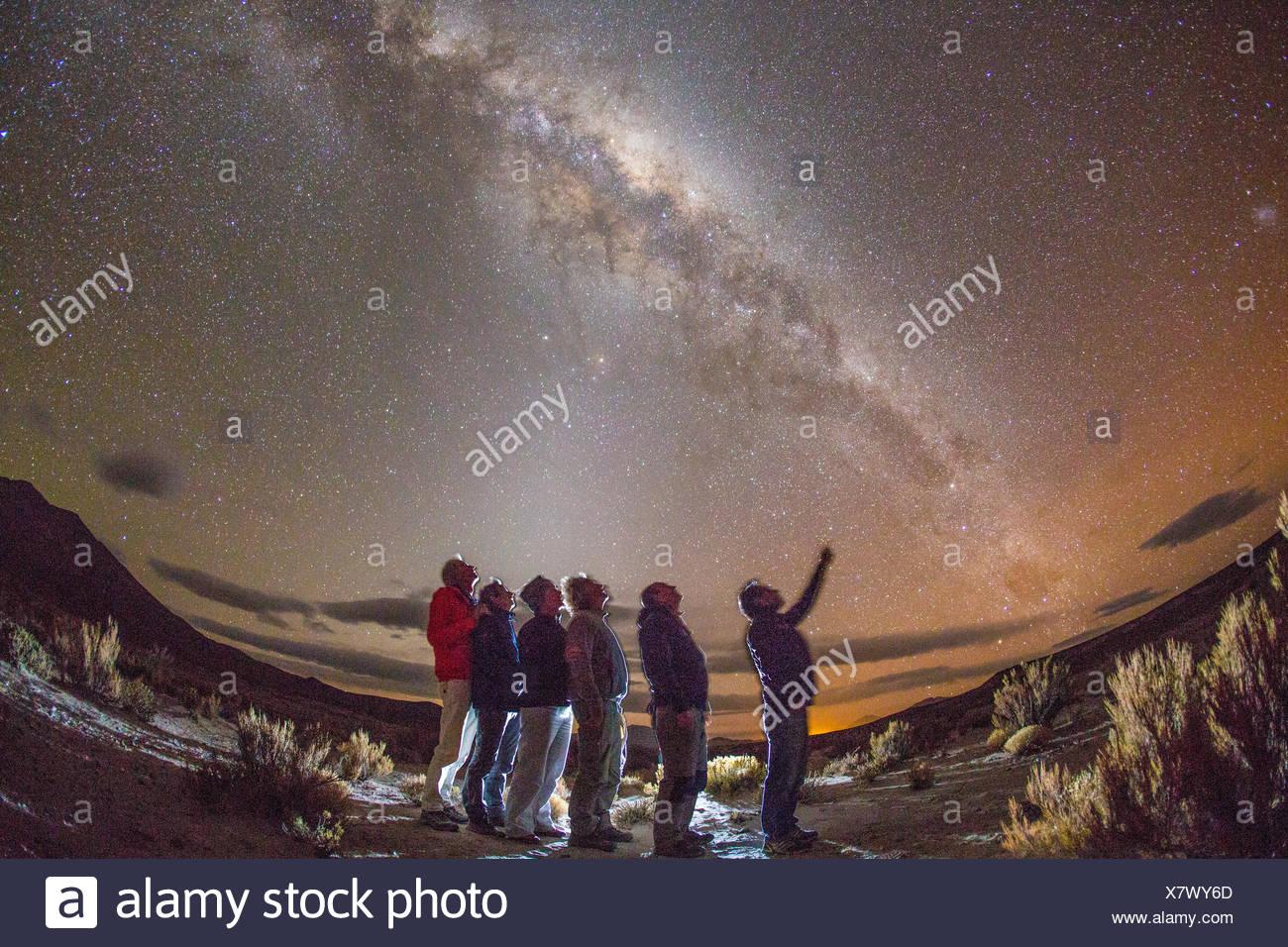 Star sky, Bolivia Immagini Stock