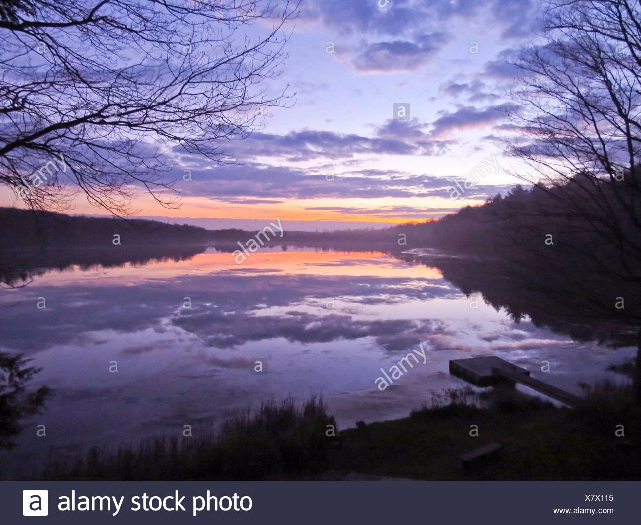 Serenità sul lago Immagini Stock