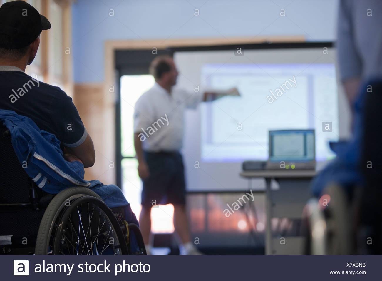 Disabilità formazione sportiva di classe Immagini Stock